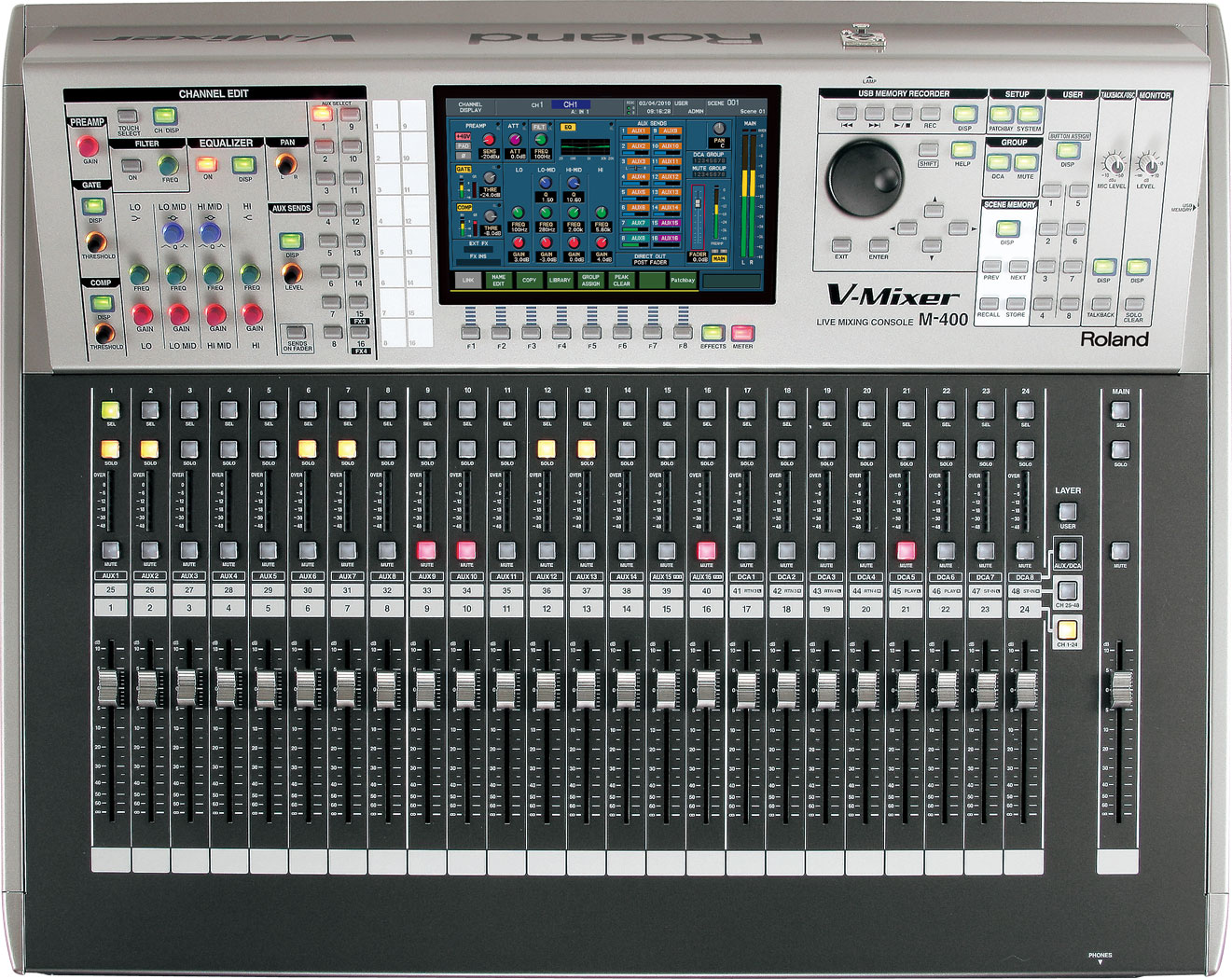 Roland Pro A V M 400 48 Channel Live Digital Mixing