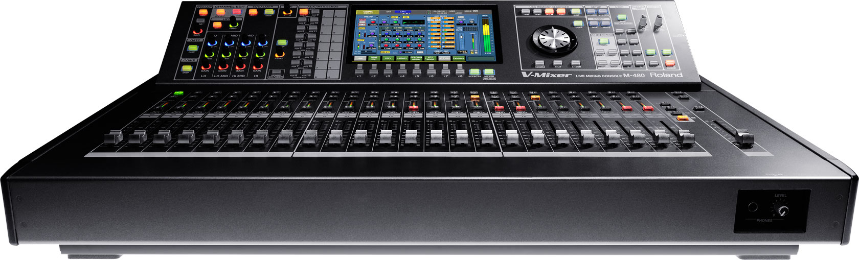 Roland Pro A V M 480 48 Channel Live Digital Mixing Console Hear Technologies Hookup Diagrams Stereo 16 Channels Of
