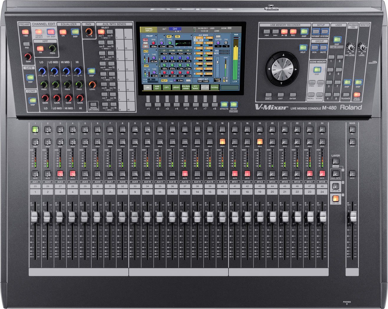 Terrific M 480 48 Channel Live Digital Mixing Console Roland Pro A V Wiring Cloud Hisonuggs Outletorg