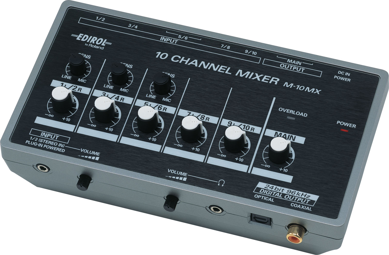 Roland M 10mx 10 Channel Battery Powered Mixer 6 Audio