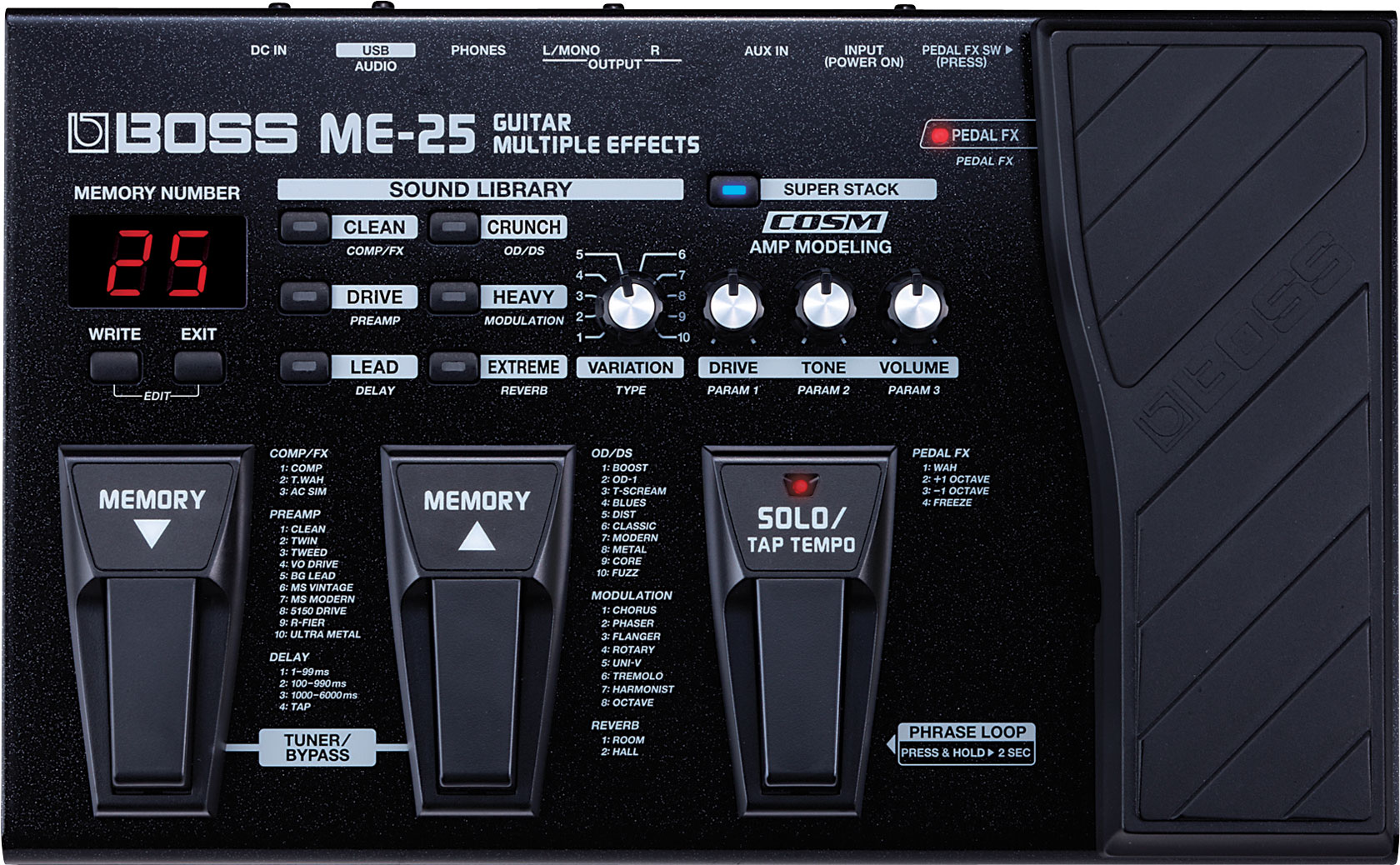 Boss me 25 guitar patches download