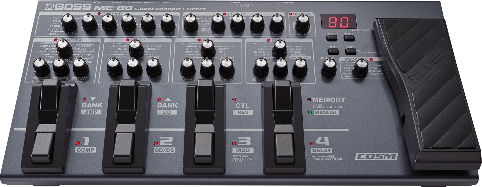 Boss Me 80 Guitar Multiple Effects Crunch Sub Amp Wiring Diagram