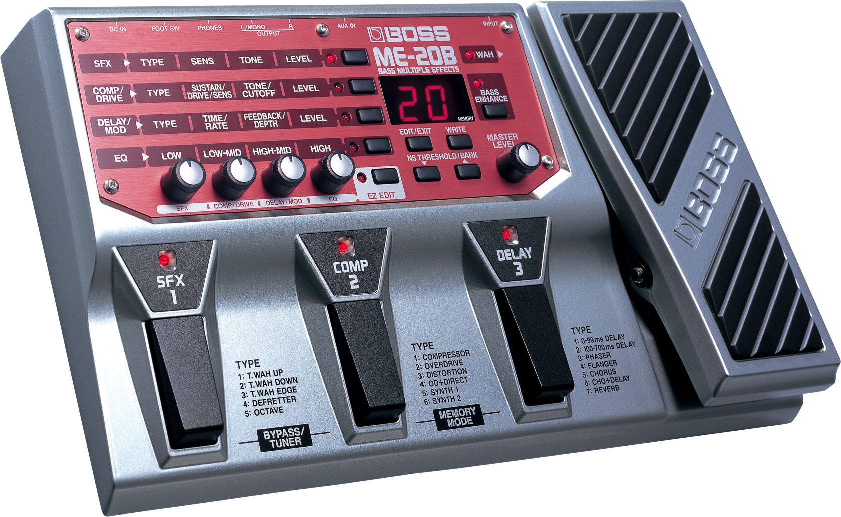 Boss ME-20B multieffects pedal.