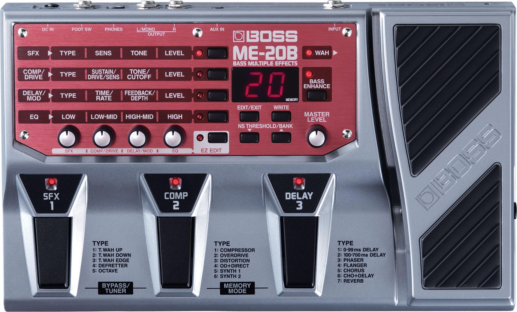 boss me 20b multi efectos para bajo el ctrico rh boss info Boss Me 50 Manual Boss Me 30 Demo