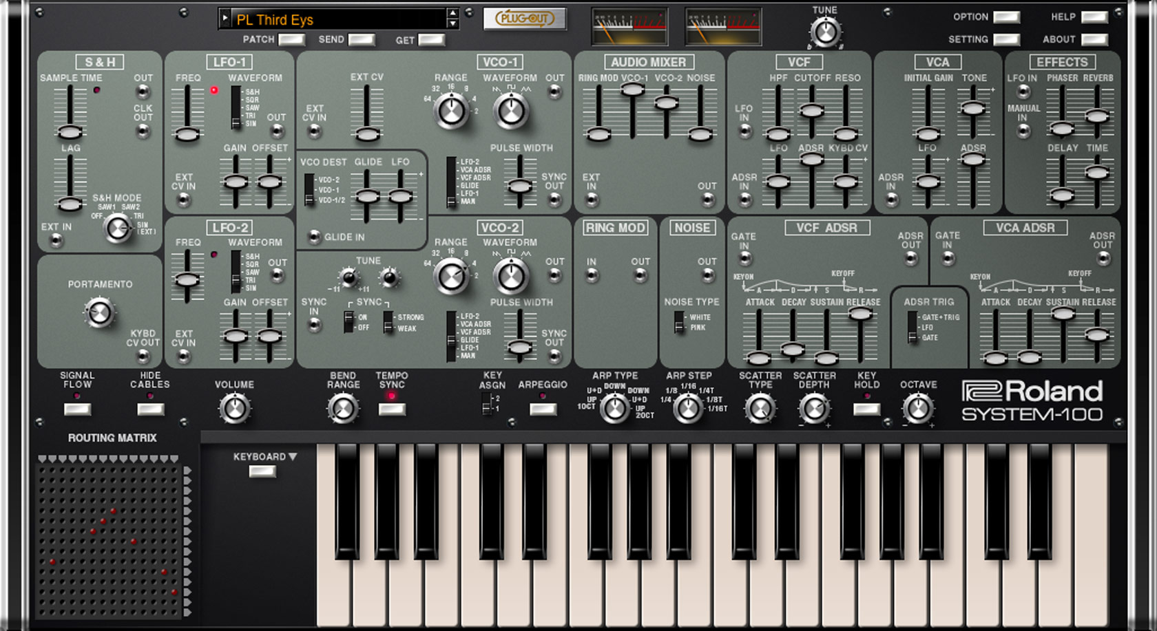 roland system 100 plug out software synthesizer. Black Bedroom Furniture Sets. Home Design Ideas