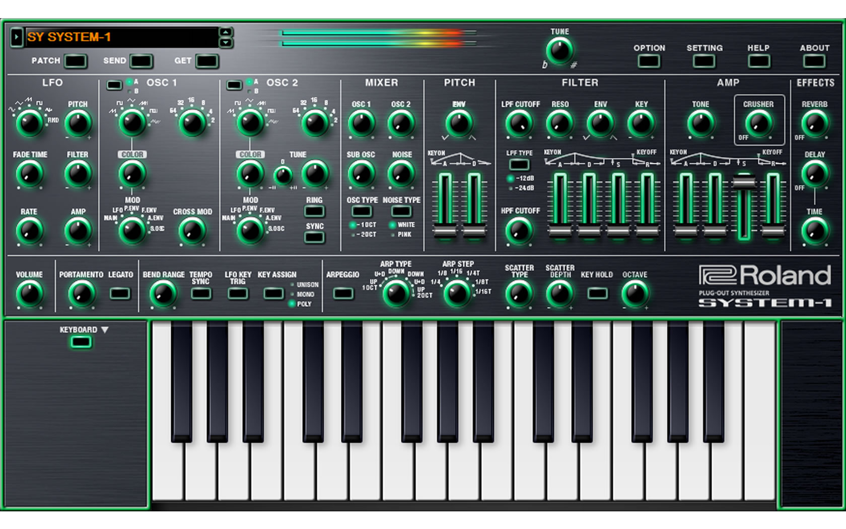 roland system 1 software synthesizer software synthesizer. Black Bedroom Furniture Sets. Home Design Ideas