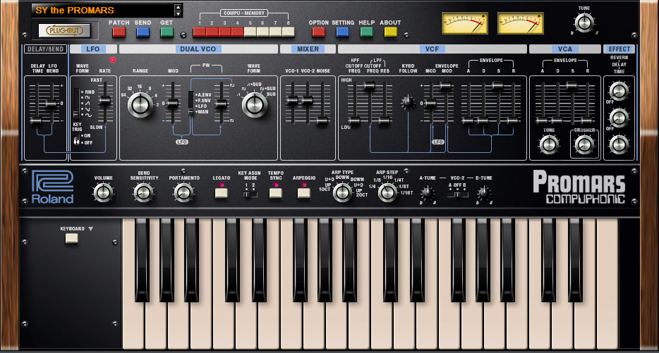 PROMARS PLUG-OUT | Software Synthesizer - Roland