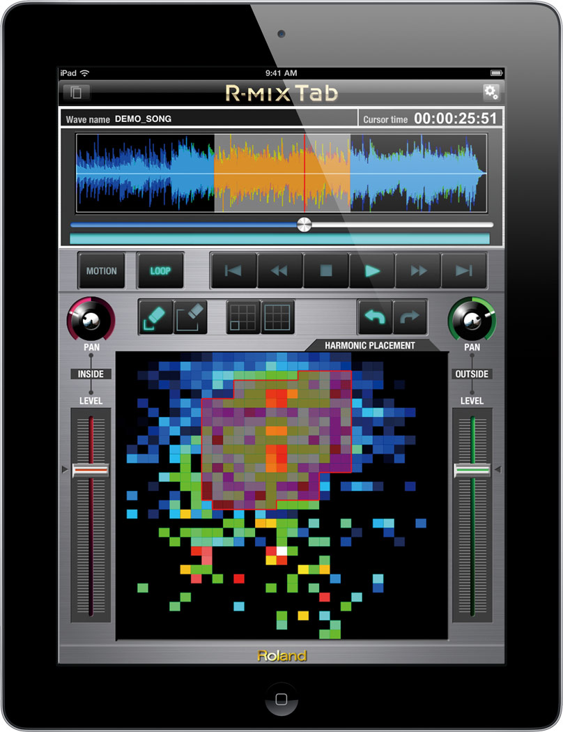 R-MIX Tab | Audio Processing Software - Roland