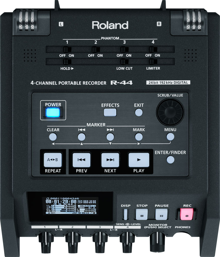 Roland Pro A V R 44 4 Channel Portable Recorder The Audio Preamplifier With Dual Recording