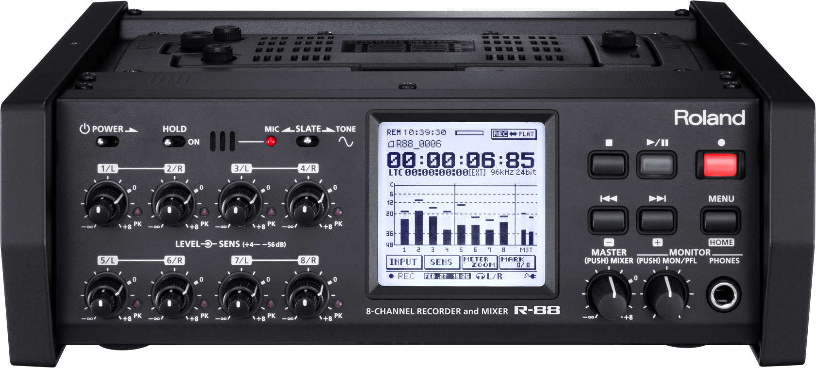 R-88 | 8-Channel Recorder and Mixer - Roland Pro A/V