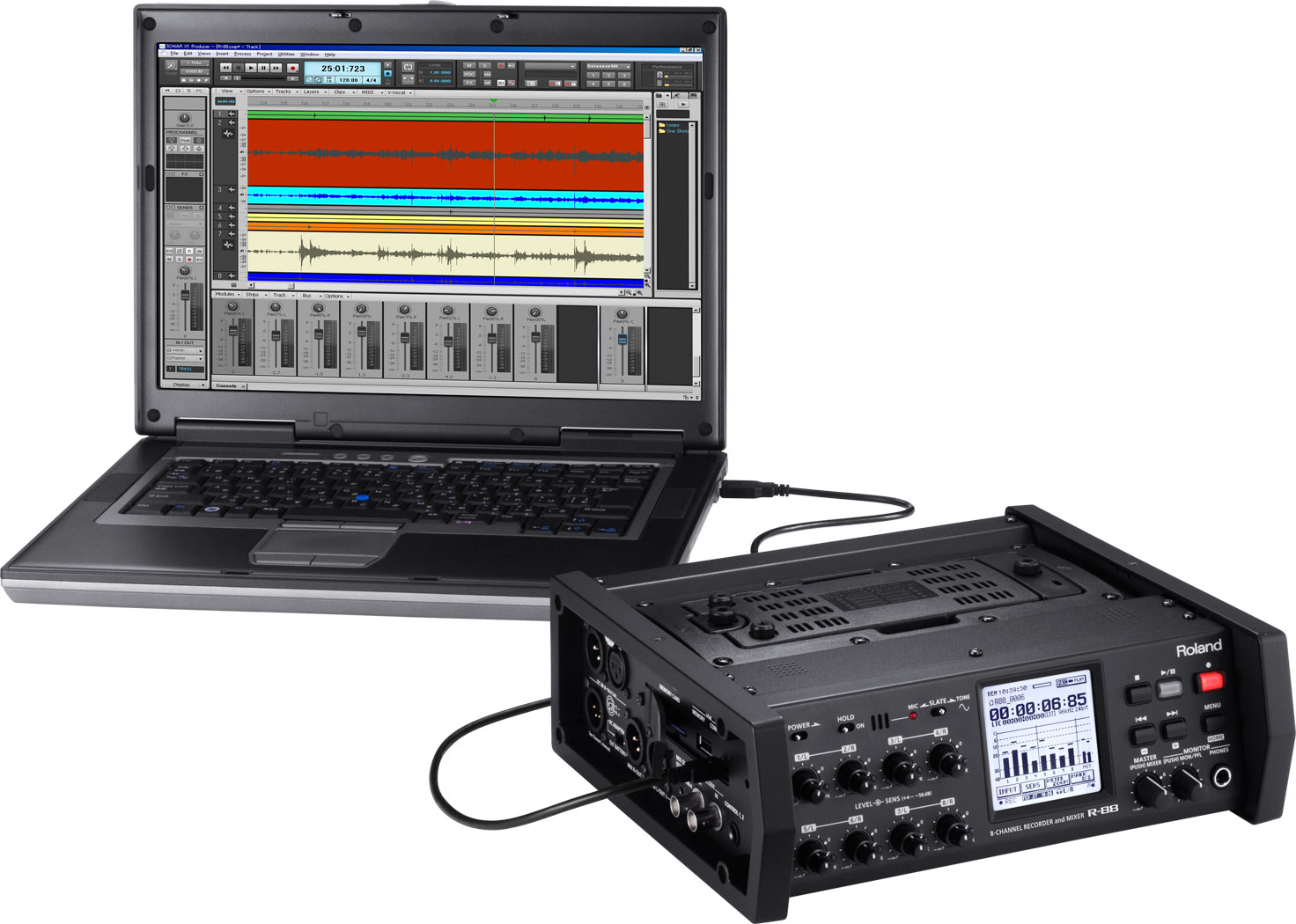 Roland Pro A/V - R-88 | 8-Channel Recorder and Mixer