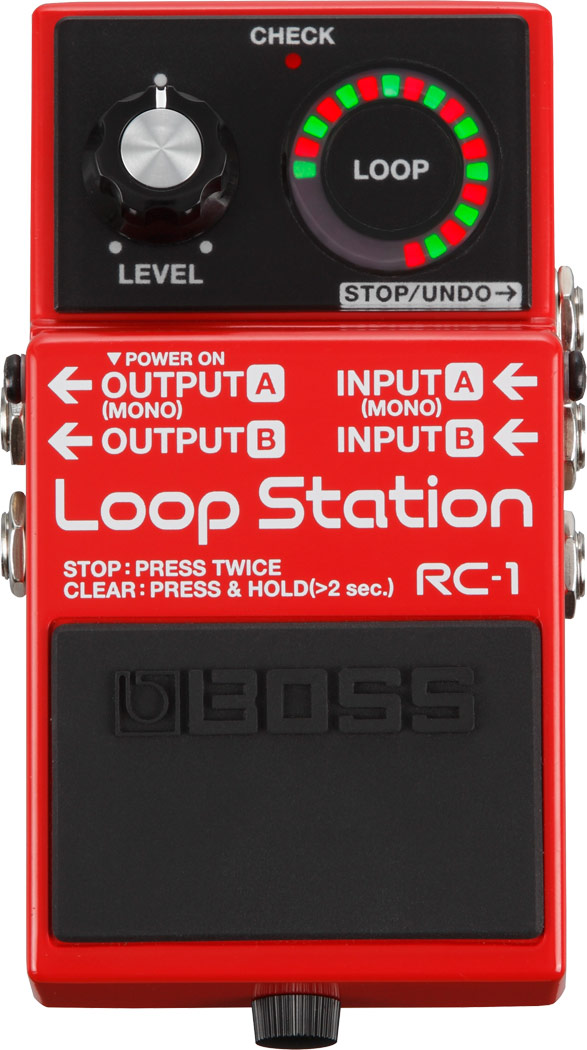 Boss RC1 Black Limited Edition Pedale Loop Station