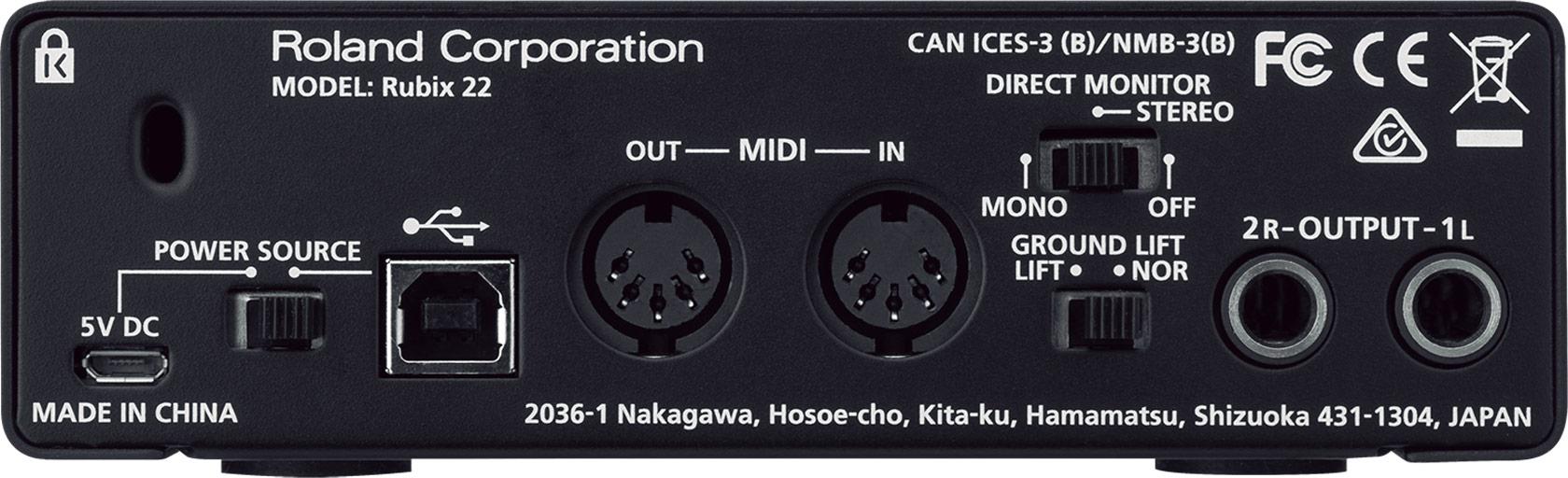 Roland Rubix22 Usb Audio Interface 2036 46 Wiring Diagram