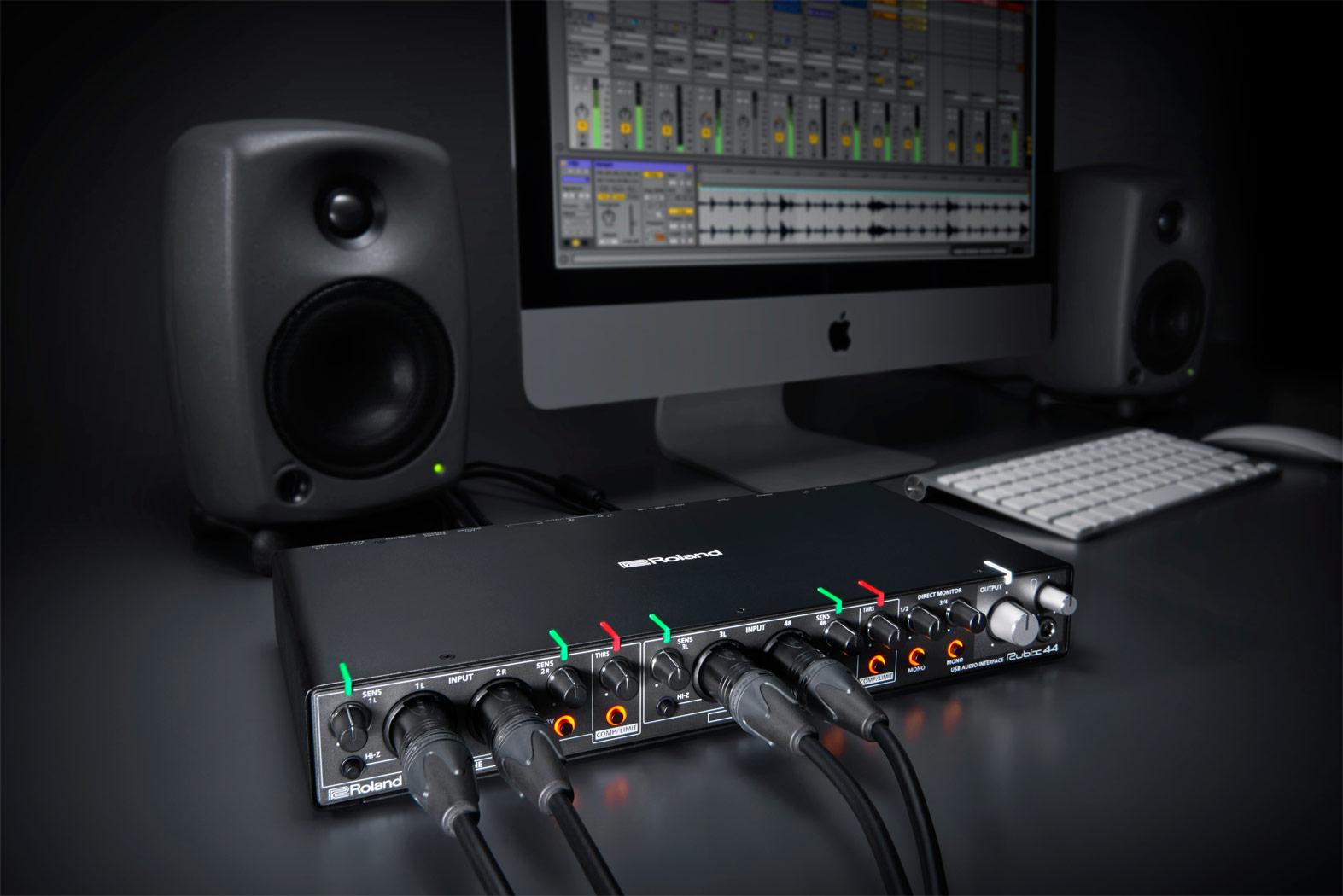 Roland Rubix44 Usb Audio Interface Combo Xlr Wiring Diagram Includes Ableton Live Lite