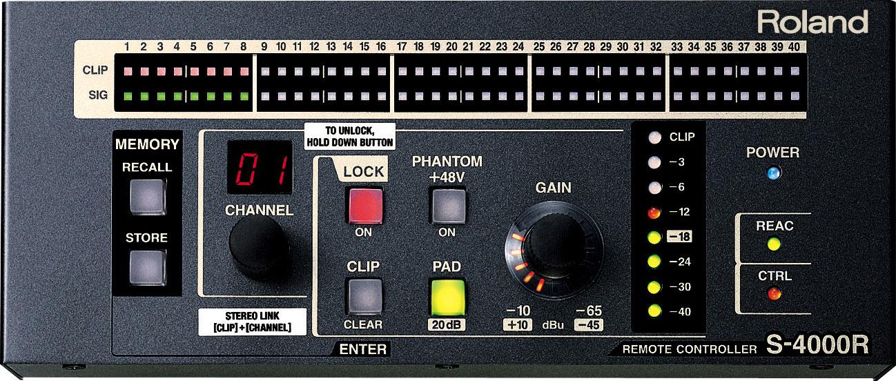 roland pro a v s 4000r digital snake remote controller rh proav roland com
