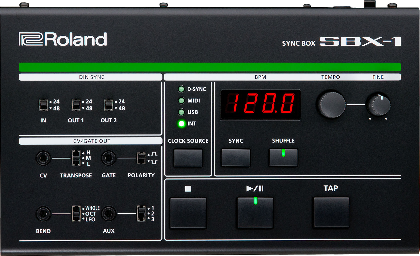 Roland Sbx 1 Sync Box Auxilliary Runs Down To A Metal Junction That Connects