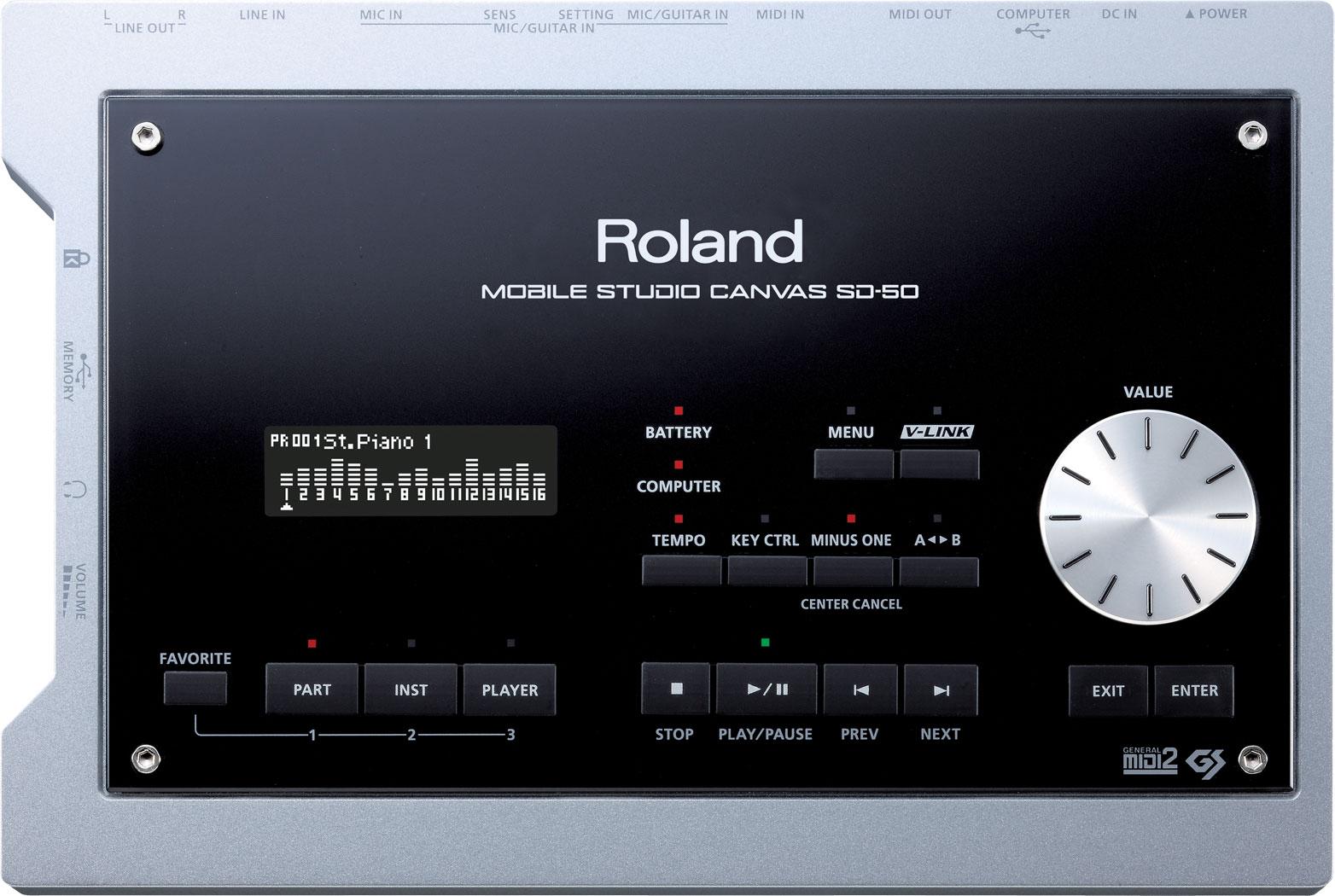 Roland - Mobile Studio Canvas | Sound Module with DAW Software