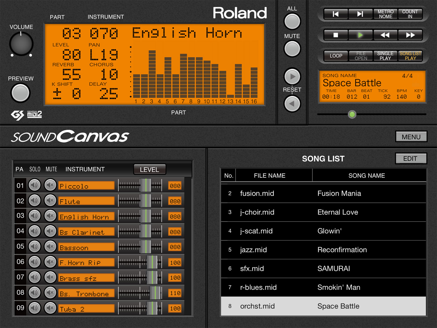 Roland - Sound Canvas for iOS | Software Synthesizer with SMF Player