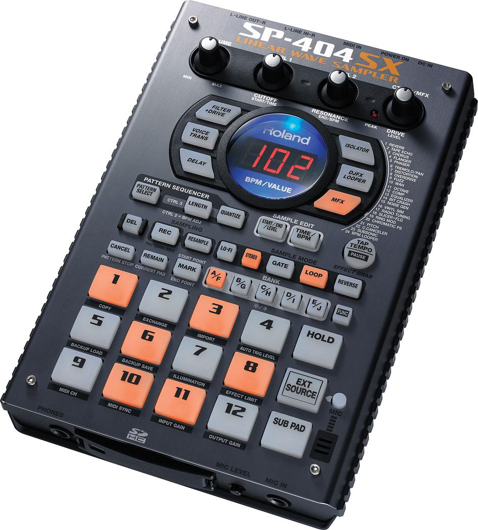 Roland sp-404sx portable sampler emusician.