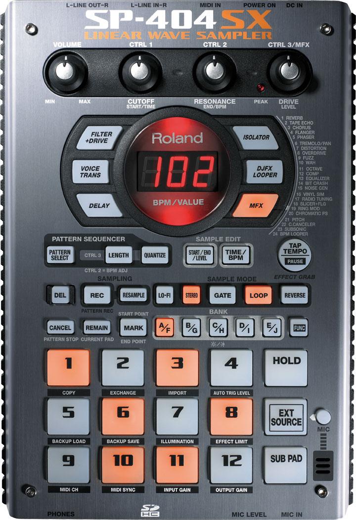 Roland sp-404 dr. Sample sp404 portable sampler ~ w/ 1gb card! For.