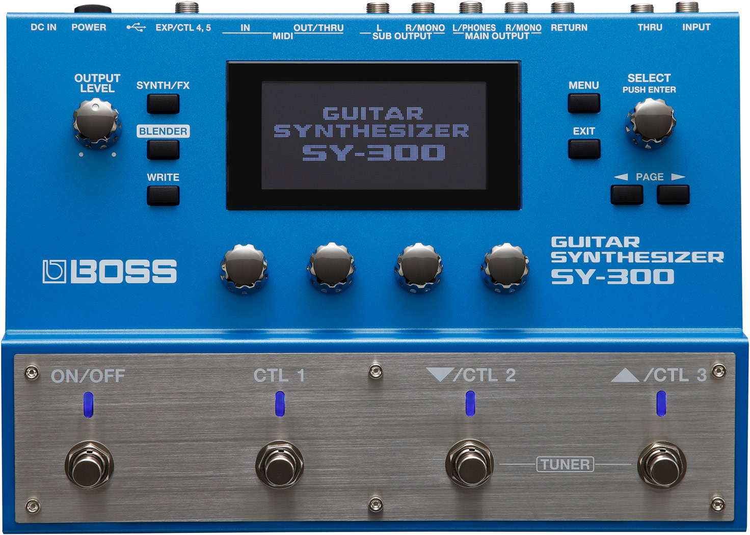 Guitar Synth Pedal >> Sy 300 Guitar Synthesizer Boss