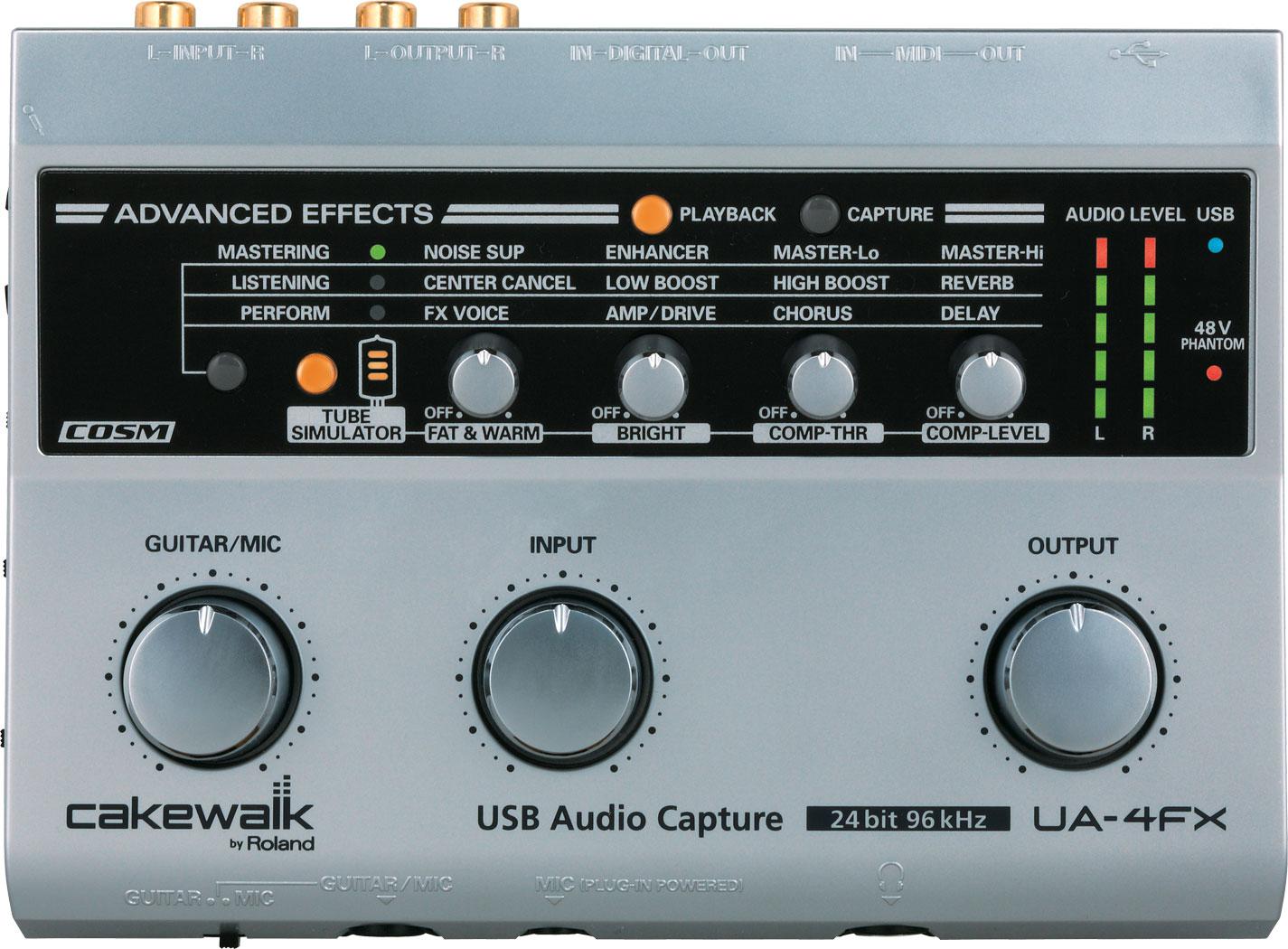 UA-4FX | USB Audio/MIDI Interface - Roland