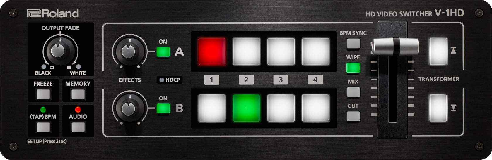 Roland Pro A V 1hd Hd Video Switcher Audio Generator Is Controlled By Light