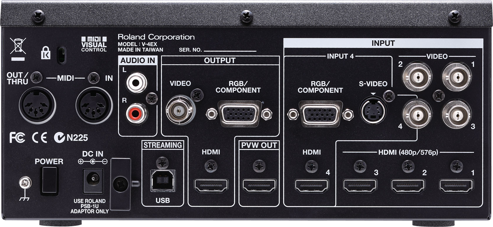 Roland pro a/v stand-alone articles v-1hd hd video switcher.