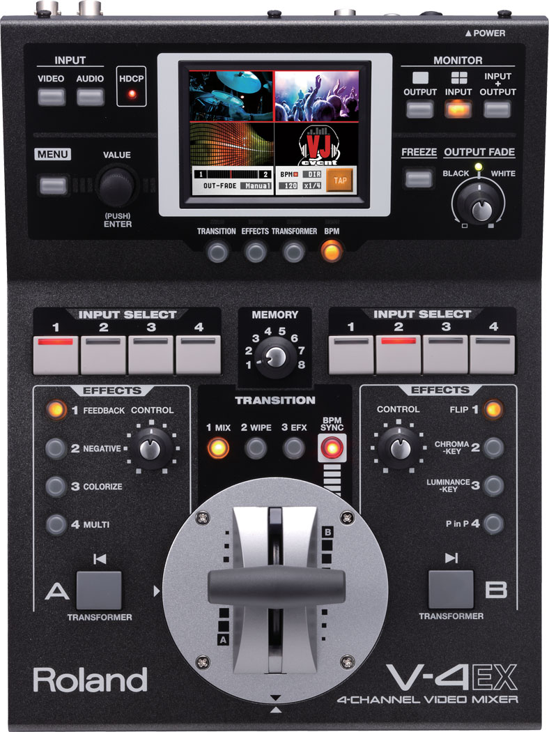 Roland Pro A V 4ex 4 Channel Digital Video Mixer With Effects Svga Monitor Typical Switch Mode Power Supply Binatanicom