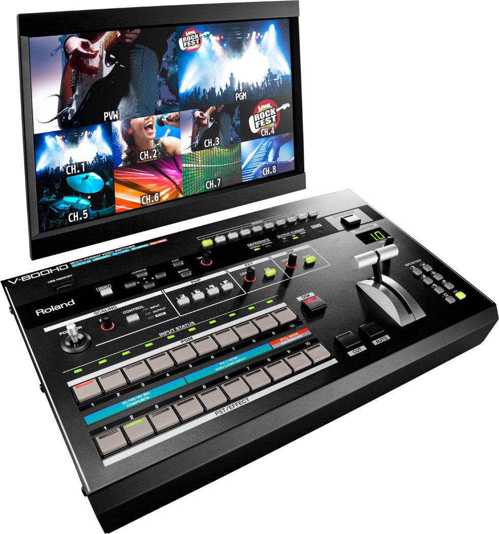 Roland Pro A V V 800hd Multi Format Video Switcher
