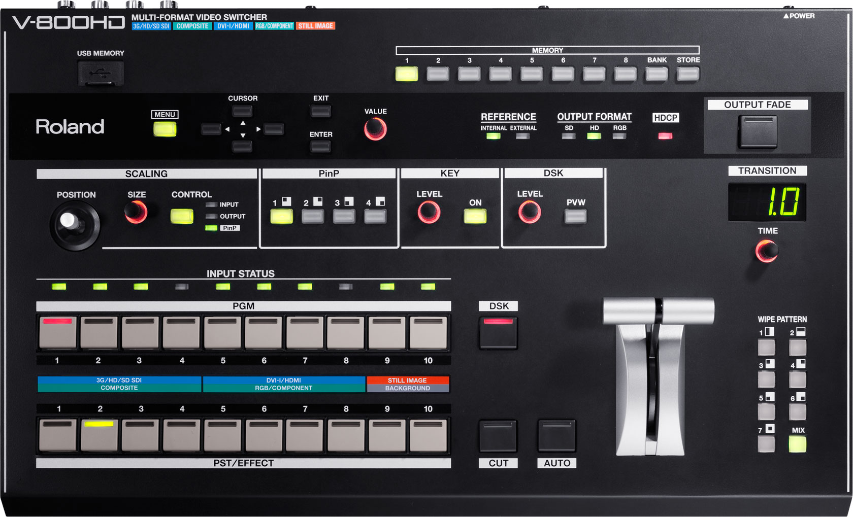 Roland Pro A V 800hd Multi Format Video Switcher Dictionary Of Electronic And Engineering Terms Audio Mixer Circuit