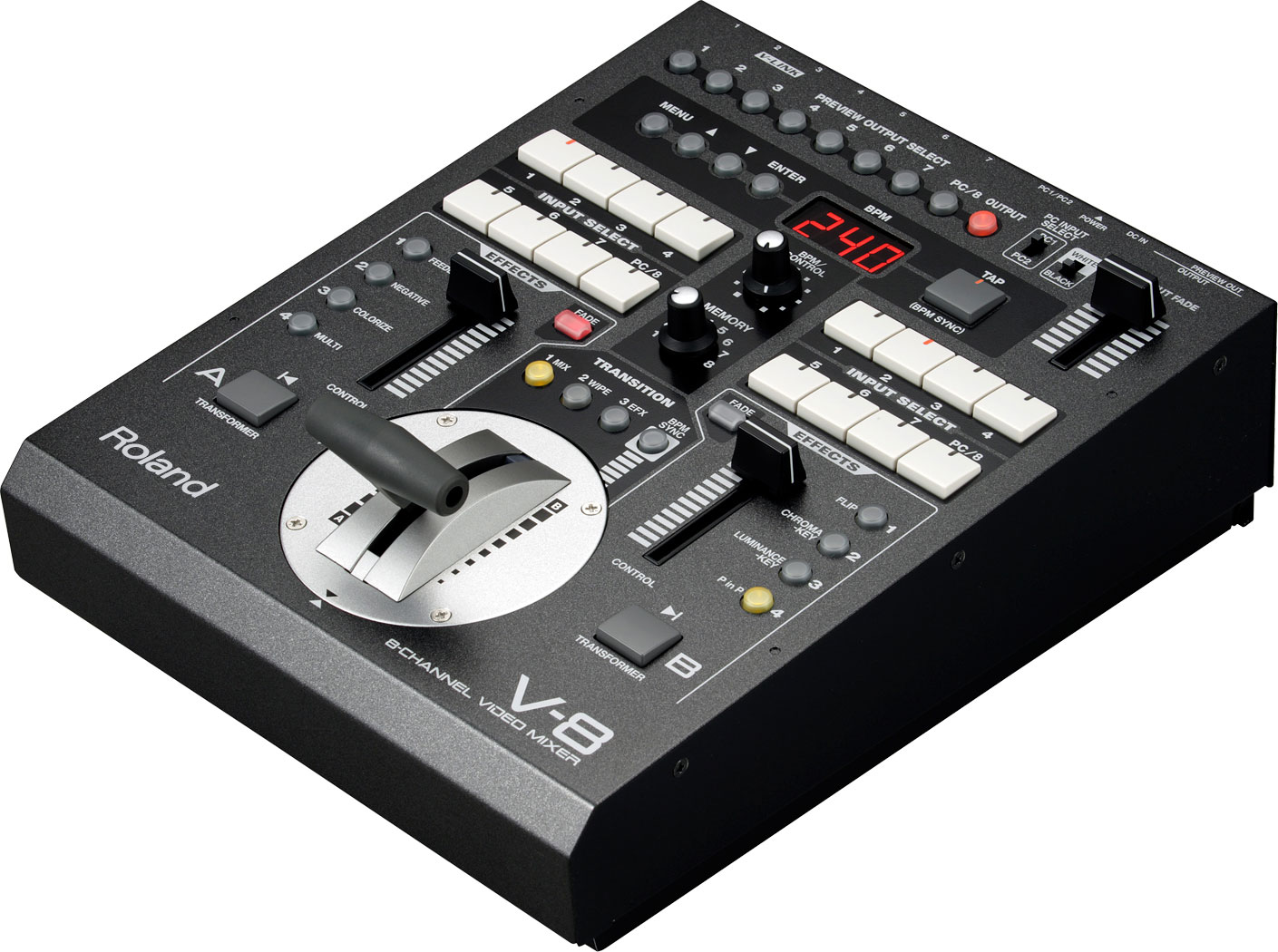 Roland Pro A V 8 Eight Channel Video Mixer With Effects Audio Circuit
