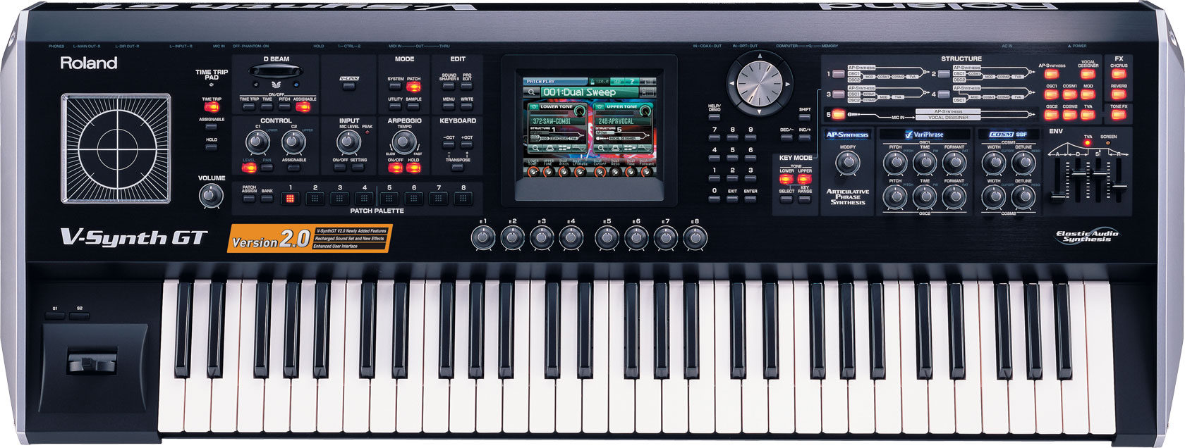 roland v synth gt elastic audio synthesizer. Black Bedroom Furniture Sets. Home Design Ideas