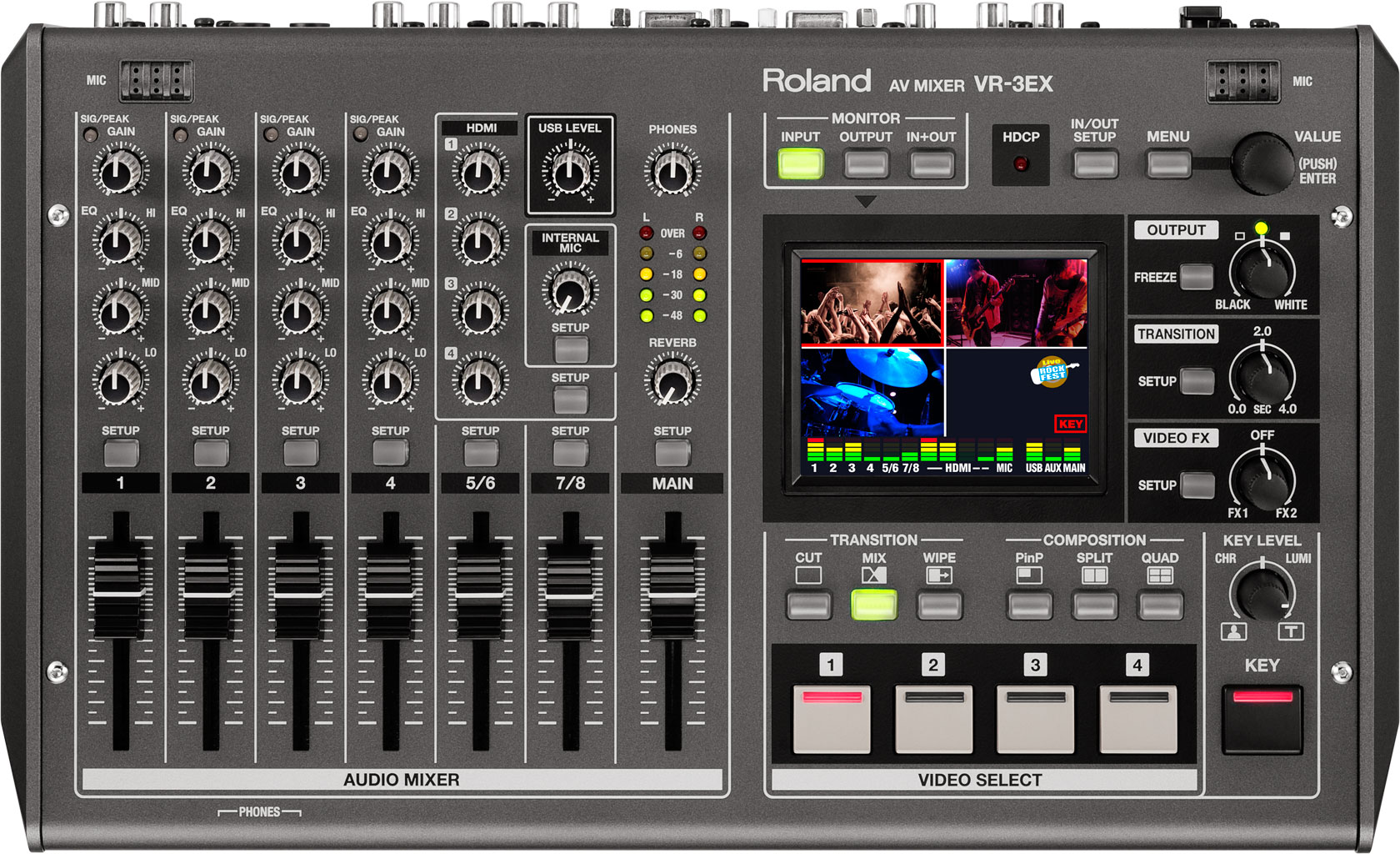 Roland Pro A V Vr 3ex Av Mixer Dictionary Of Electronic And Engineering Terms Audio Circuit