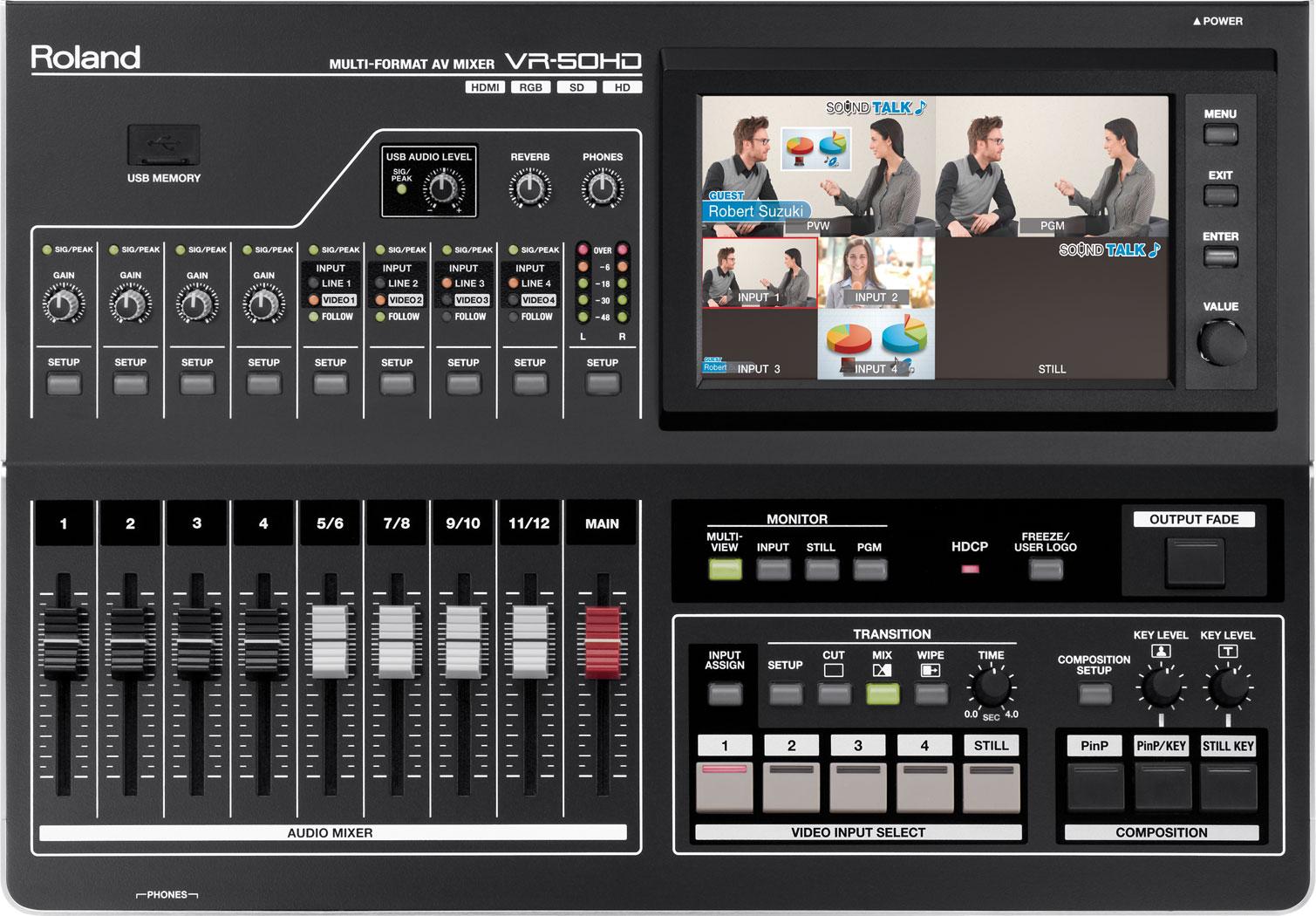 VR-50HD | Multi-Format AV Mixer - Roland Pro A/V