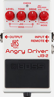 Boss JB-2 Angry Driver Overdrive Pedal FS-7 Footswitch