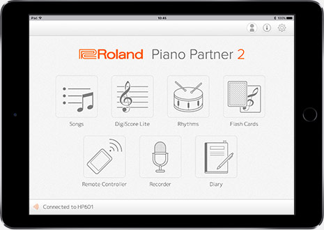 Piano Partner 2 Version 2 0 | iOS/Android App - Roland