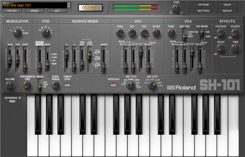 SH-101 PLUG-OUT | Software Synthesizer - Roland