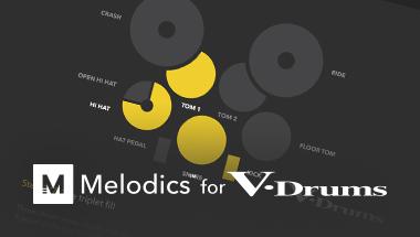 Melodics alkalmazás V-Drums-okhoz