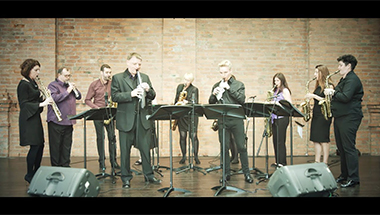 Aerophone Ensemble with Acoustic Saxophones