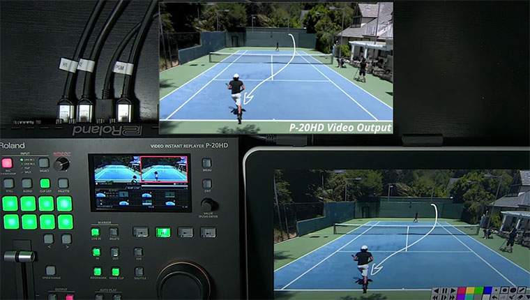 Roland P-20HD Video Instant Replayer Live Annotation Update