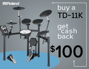 TD-11K V-Drums Kit $100 Cash Back