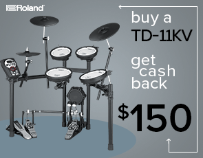 TD-11KV V-Drums Kit $150 Cash Back