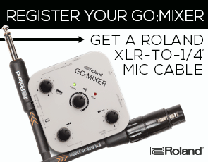Buy and Register Your GO:MIXER to get a RMC-B20-HIZ Mic Cable from Roland