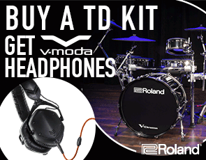 Buy a V-Drums Kit and get V-MODA M-100 Headphones from Roland