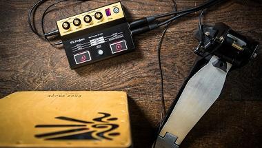 アコースティック・カホンに新たな音色を重ねて演奏できる音源内蔵カホン専用マイク・プロセッサー発売