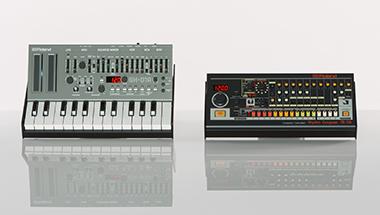 音楽シーンに大きな影響を与えたリズム・マシンの名機「TR-808」、シンセサイザー「SH-101」をコンパクトなボディに凝縮した2 モデルを発売