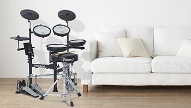 小さなスペースで本格的な演奏ができる電子ドラムをさらに機能強化