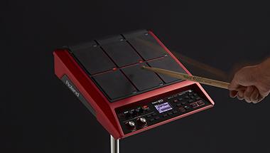 好みの音色やフレーズを録音してスティックで演奏できるサンプリング・パッドのスペシャル・バージョン