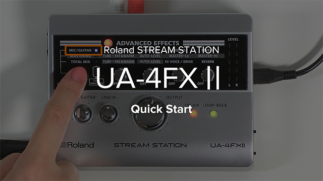 UA-4FX2 クイック・スタート